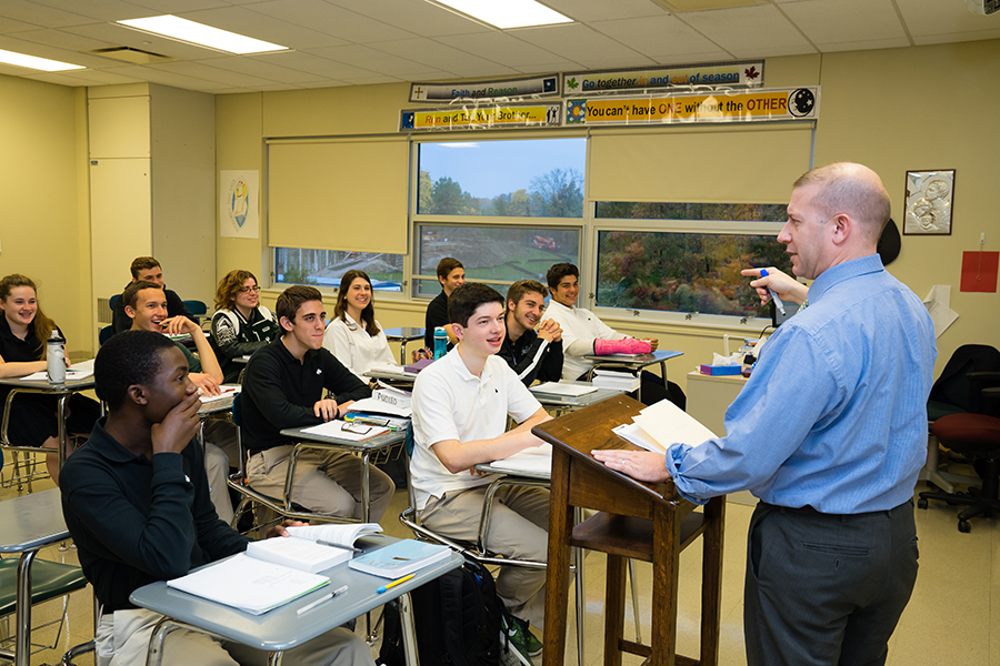 Mr. John DeJack captivates his Latin class with his humor and knowledge of Latin.
