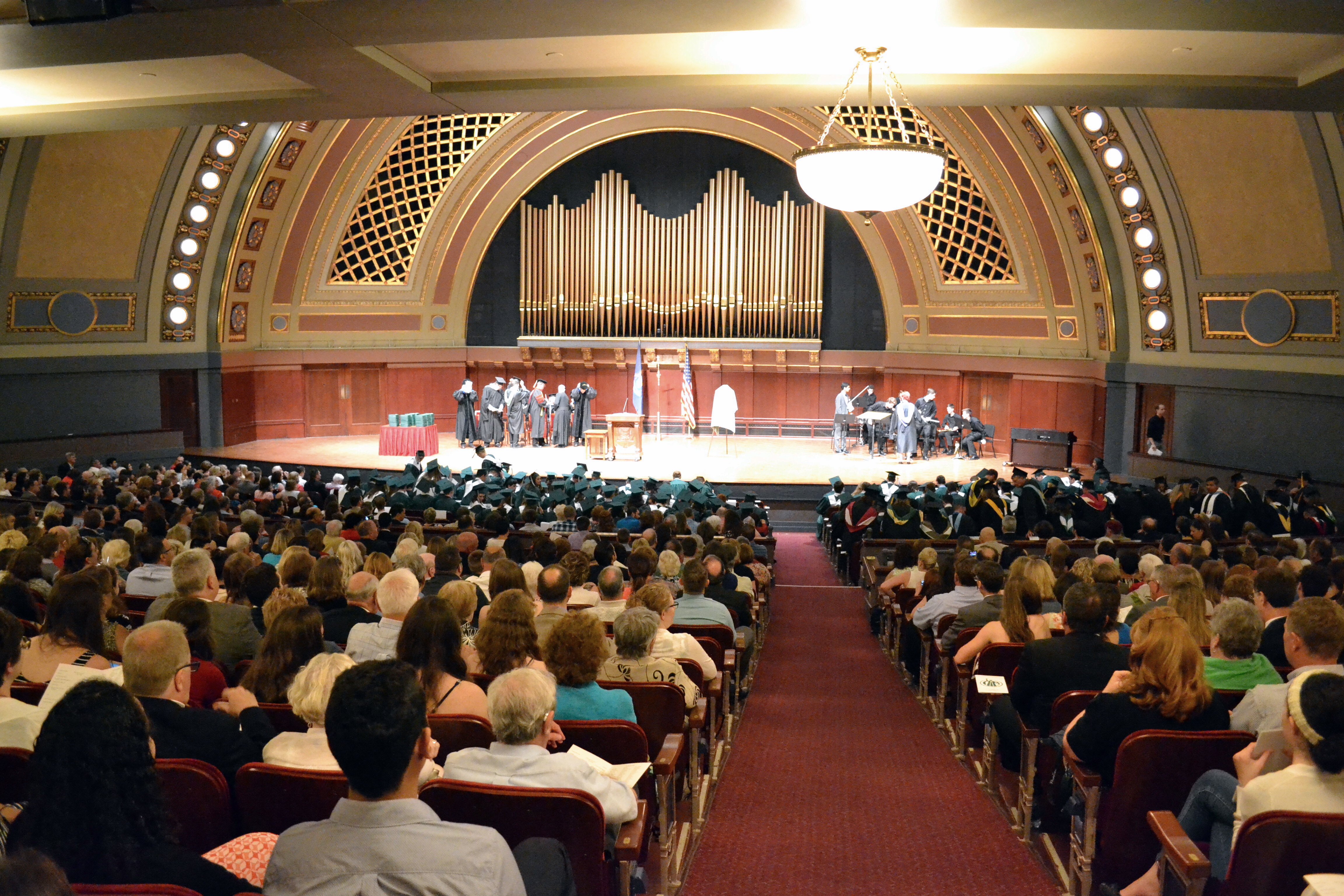 Hill Auditorium on Graduation Day.